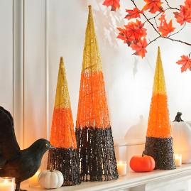 Halloween Cone Trees, Set of Three