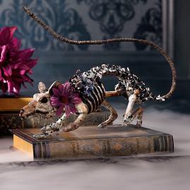 Katherine's Collection Jeweled Skeleton Rat