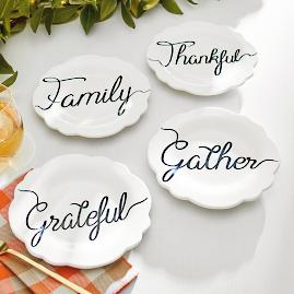 Fall Word Plates, Set of Four