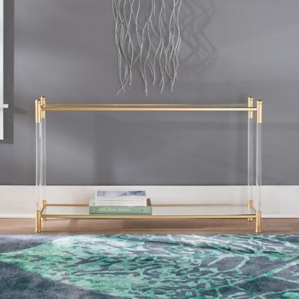 aria gold u0026 acrylic console table