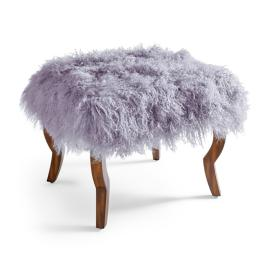 "Scarlett Bench 24"" with Mongolian Fur Cover"