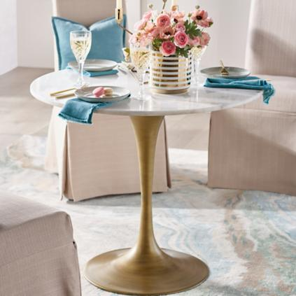 Rene Round Marble Top Table