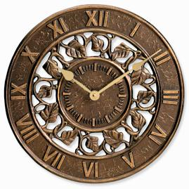 Ivy Outdoor Clock & Thermometer