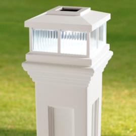 Solar-powered Mail Post Light
