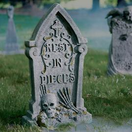 Rest in Pieces Tombstone |