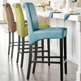 Julien Leather Bar Stool Grandin Road