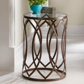 Garner Steel Barrel Accent Table