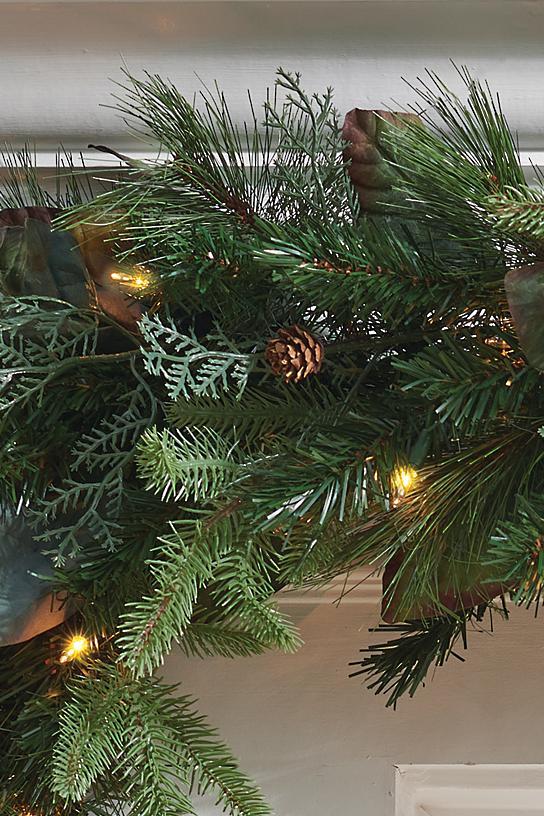 Pre Lit Woodland Christmas Garland Grandin Road