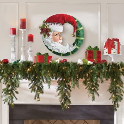 Outdoor Christmas Garlands With Lights