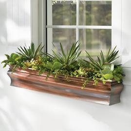 Lena Copper Window Box