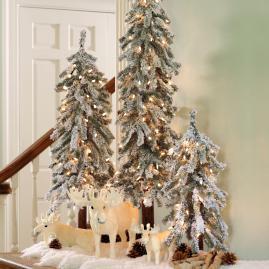 Martha Stewart Pre-Lit Flocked Alpine Tree