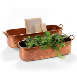 Hand hammered Copper Planters
