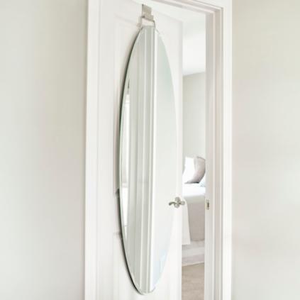 Over door beveled door mirror grandin road - Mirror in front of main door ...