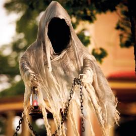 Life | size Hanging Faceless Specter Halloween Figure