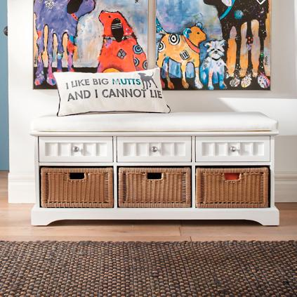 chelsea storage bench - Grandin Road Catalog
