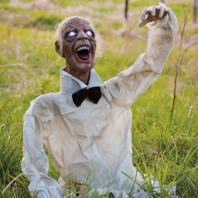 Henry The Zombie Animated Halloween Prop Grandin Road