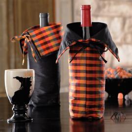 Set of Two Halloween Wine Bags
