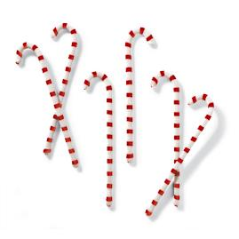"Set of Six 16"" Candy Canes"