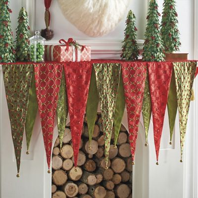 Kringle Mantel Scarf Grandin Road