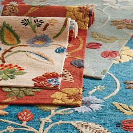 Tibetan Floral Leaf Indoor Rug