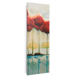 Scarlet Reflections Outdoor Wall Art