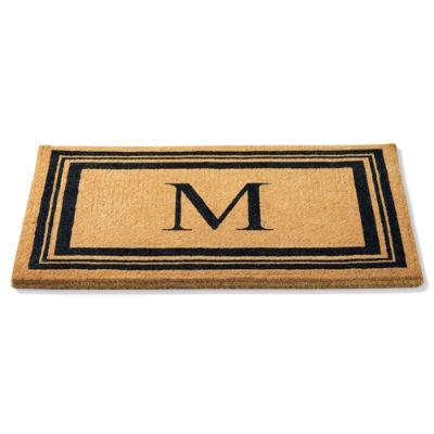 Monogrammed Coco Border Door Mat Grandin Road