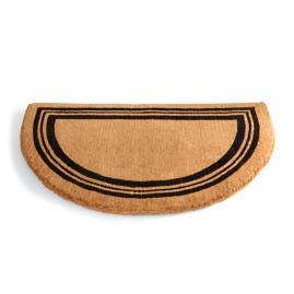 Non-Monogrammed Coco Border Half-Round Door Mat