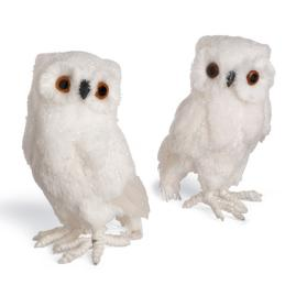 Set of Two Large Snowy Owls