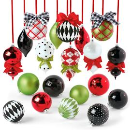 Merry and Bright 20 pc. Ornament Collection
