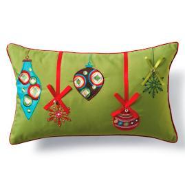 Green Jingle Lumbar Pillow