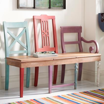 artisan bench - Grandin Road Catalog