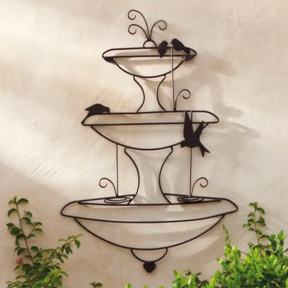Birds in a Fountain Wall Art