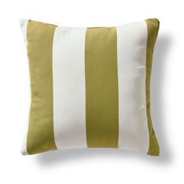 Stripe Pesto Outdoor Throw Pillow