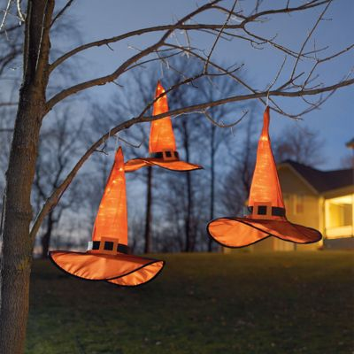 Set Of Three Hanging Witch Hats Grandin Road