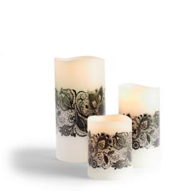 Battery Operated Lace Candles