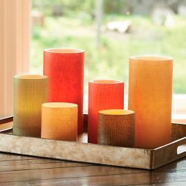 Battery Operated Burlap Candles