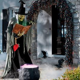 Life size Spell Casting Witch Animated Figure