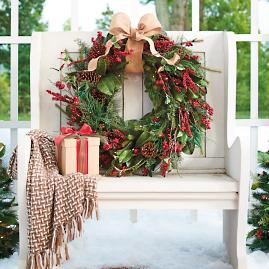 Cordless Winter Garden Outdoor Greenery Collection