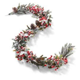 Battery operated Iced Berry Garland