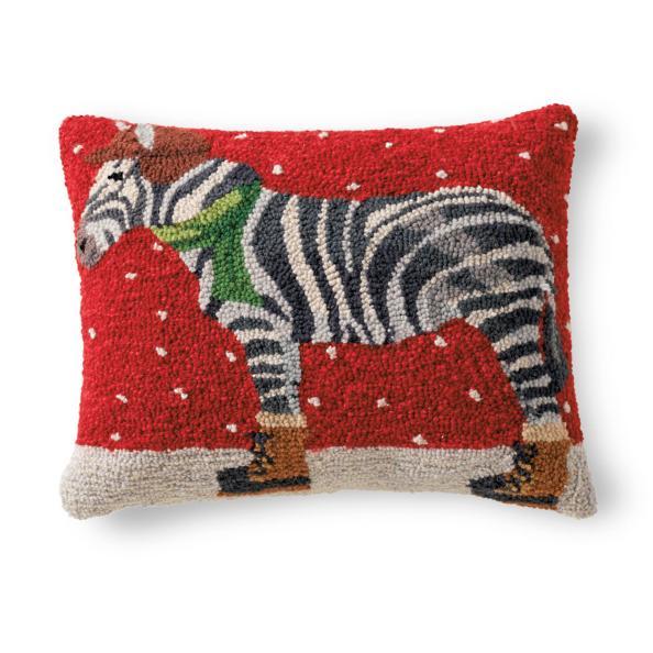 Zebra Winter Wonderland Pillow