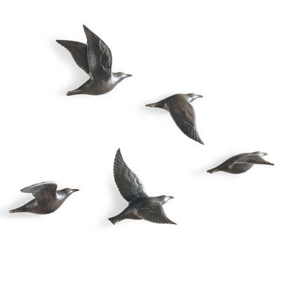 Set Of Five Bone China Flying Gulls Grandin Road