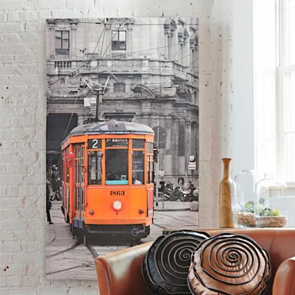 oversized streetcar artwork - Grandin Road Catalog