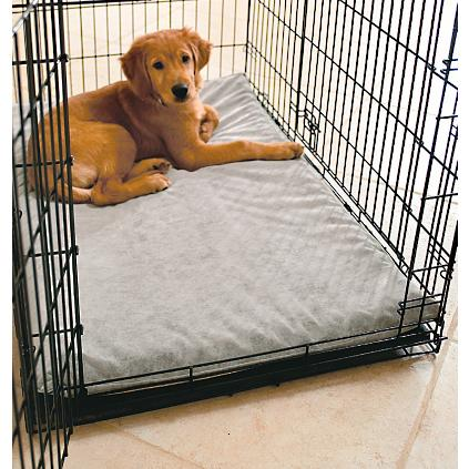 Dog crate mats grandin road for Dog kennel liner