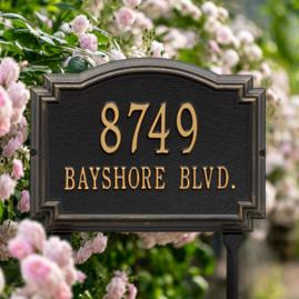Williamsburg Standard-Size Address Plaques