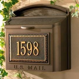 Monogrammed Mailbox