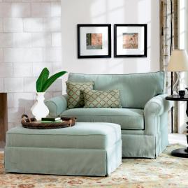 Alexandria Sleeper Chair & Ottoman