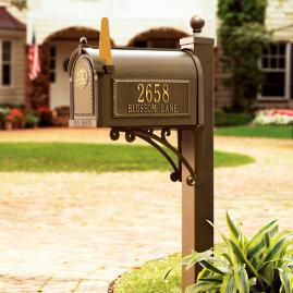 Seranto Monogrammed Mailbox & Post