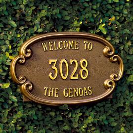 Genoa Address Plaques
