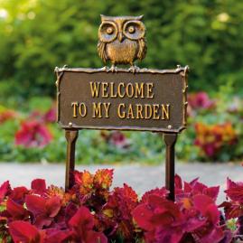 Hoot Owl Garden Plaque