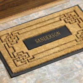 Personalized Coir Knot Door Mat |